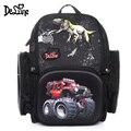Delune 3D ортопедический школьный рюкзак с динозавром для детей  школьная сумка с цветочным принтом для девочек и мальчиков 7 лет  Mochila Infantil  нови...