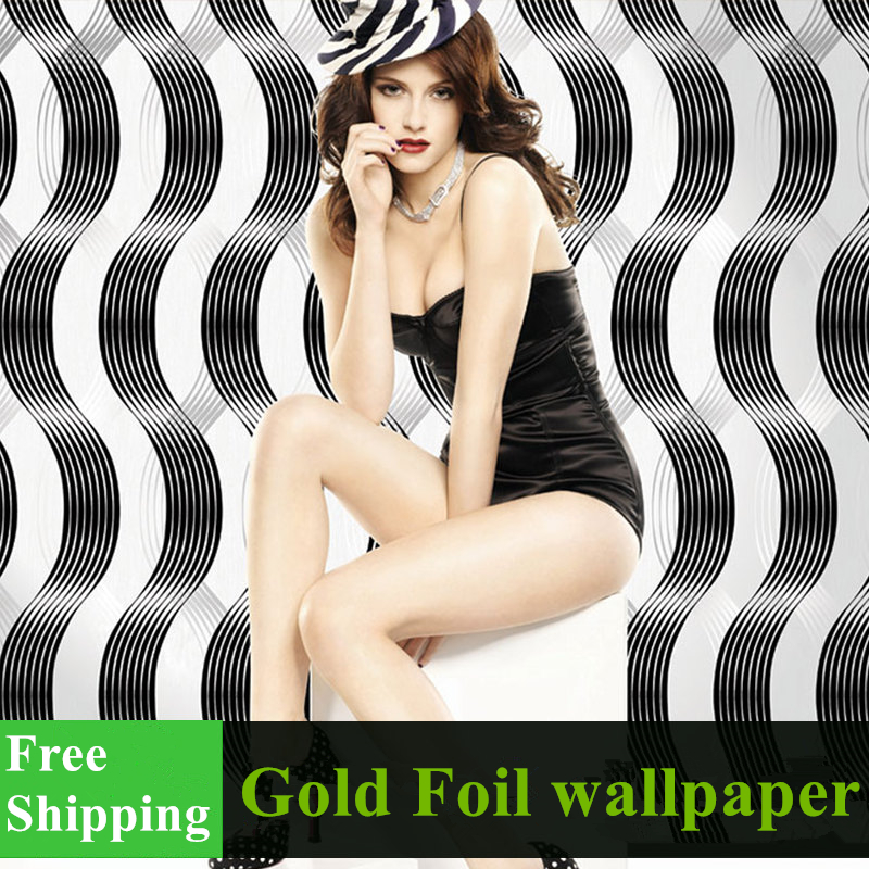 Free shipping waterproof 0.53*10m/roll high quality Gold foil wallpaper for KTV ,SPA ,SALON quality guarantee yellow matte vinyl wrap film foil car sticker with air bubble free fedex free shipping size 1 52 30m roll