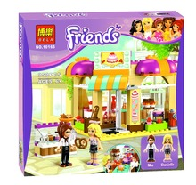 Bela 10165 Friends City Bakery Boulangerie Toys Gift Minifigures Building Block Minifigure Toys Compatible with Legoe
