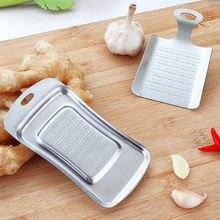 1 шт. имбирный чеснок васаби Терка дробилка чеснок прессовое устройство инструмент для нарезки Garlics кухонное устройство для очистки овощей и фруктов из нержавеющей стали