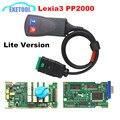 Excelente Função Estável V7.82 Mais Novo Diagbox LEXIA 3 PP2000 Interface de Diagnóstico Auto LEVOU Luz PSA Lexia3 Para Citroen/Peugeot