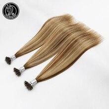 """Фея Волосы remy 0,8 г/локон 1"""" настоящий Чистый Реми микро капсулы для наращивания волос Balayage смешанный цвет нано-Кольца для волос Расширения человеческих волос"""
