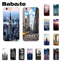 Babaite New York City DIY Printing Drawing Phone Case for iPhone 6S 6plus 7 7plus 8 8Plus X Xs MAX 5 5S XR 10 Cover