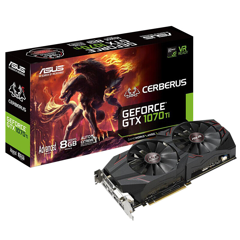 ASUS GTX1070Ti-A8G hell dog computer game graphics card image