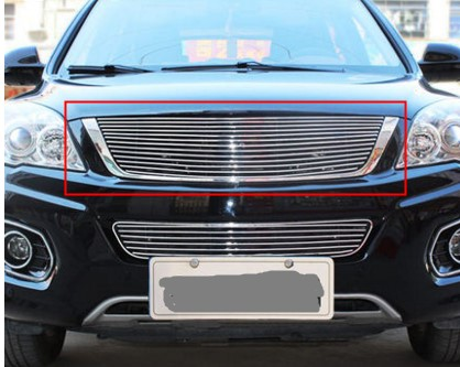 For 2011-2015 Great Wall Haval/Hover H6 Silver Upper Front Bumper Mesh Grille Grill 1PC цена