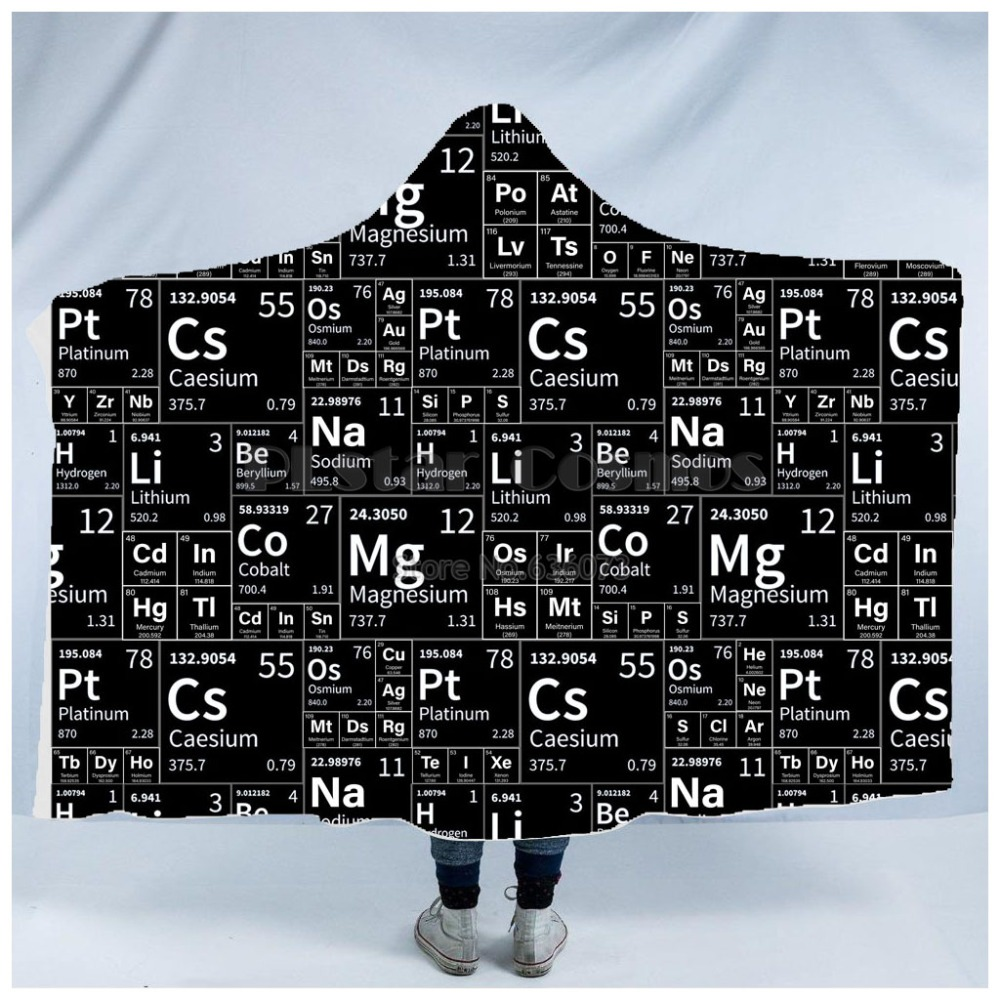 Plstar Cosmos Math science for boy Graphic funny Hooded Blanket 3D full print Wearable Blanket Adults men women Einstein style1 in Blankets from Home Garden