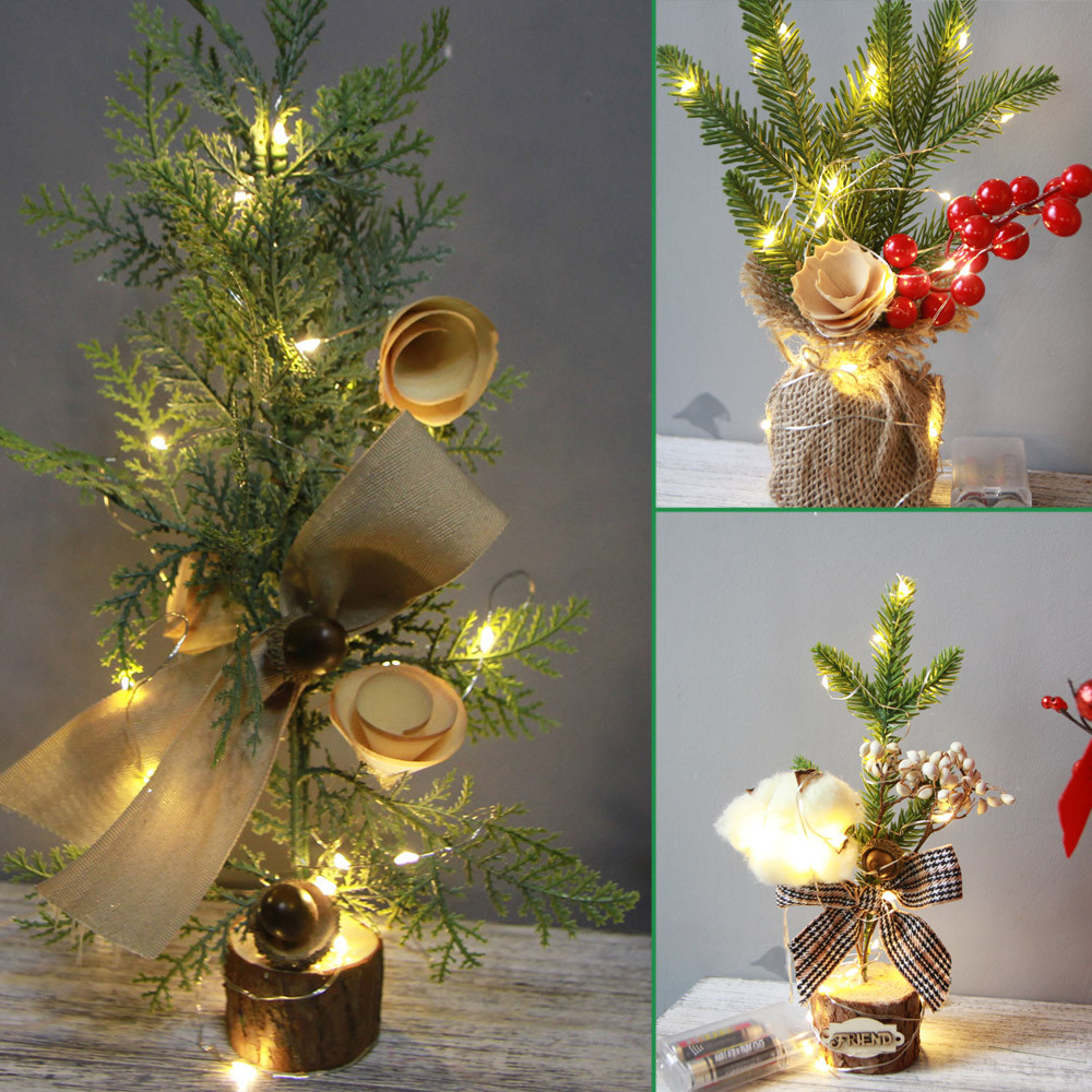 Noel 2018 Natal Christmas Desk table office Decoration Mini Christmas Tree Ornament Christmas ...