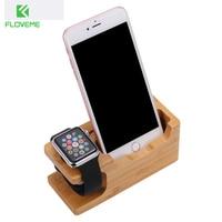 Real Wood Phone Holder Stand For IPhone 7 7 Plus Charging Dock Desktop Bracket For Apple