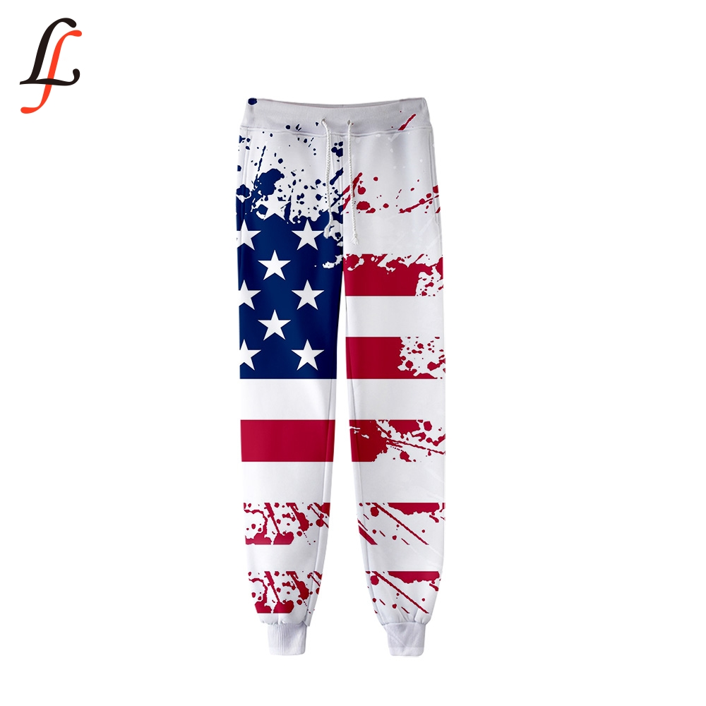 American Independence Day Fashion Hip Hop Men / Women Jogging Pant Harajuku Casual Trousers 3D Fitness Pants Sweatpants Hot Sale