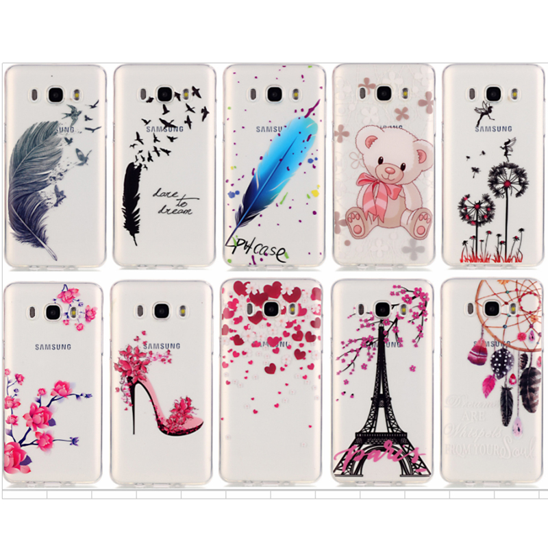 Untuk Samsung Galxy S6 S7 Edge A3 A5 J5 J7 2016 S5 G360 Grand Prime G530 Case Cover Painting Soft TPU Phone Cases coque Fundas