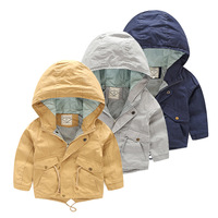 Fashion Children S Boys Long Sleeved Hooded Windbreaker Jacket High Quality Casual Cotton For 2 7