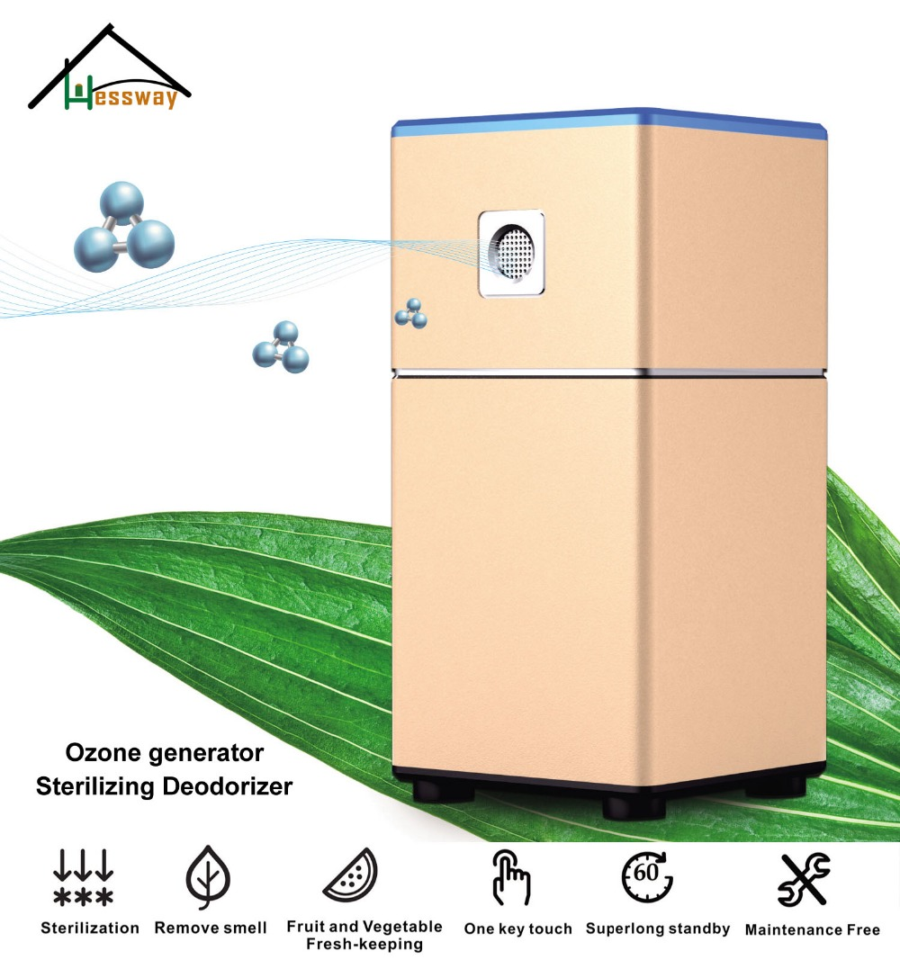 Aluminum portable ozone generator sterilizer air purifier Sterilizing Deodorizer with Sustainable power supply atongm kt 6830 sterilizing deodorizer air purifier rose gold