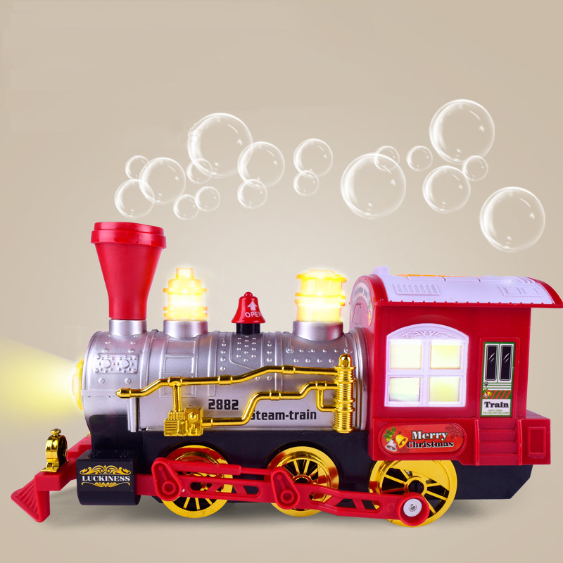 Bubble Train musical electric bubble blowing machine Realistic cartoon light toy for kids toys