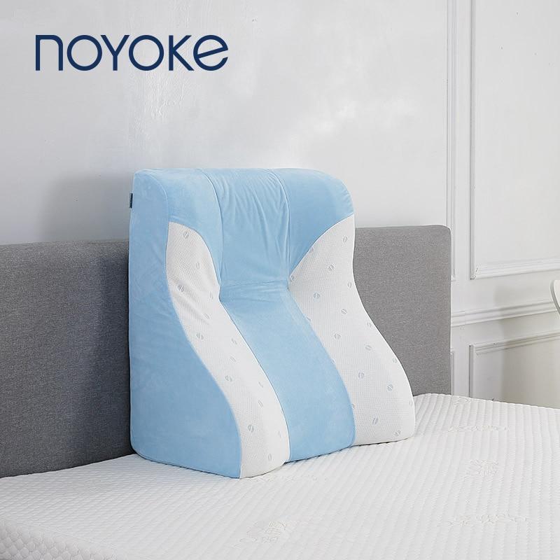 Coussin de dos en mousse à mémoire de forme noempiècement coussin de dossier de lit respirant confort doux coussins de rebond lent détachables