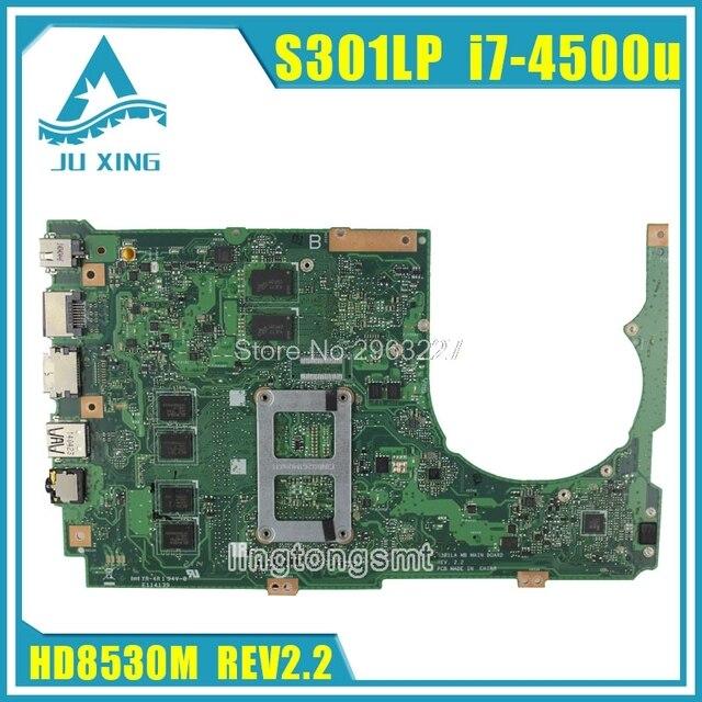 S301LP Motherboard REV2.0 i7 4500U 4G For ASUS Q301LP Q301L S301L Laptop motherboard S301LP Mainboard S301LP Motherboard test OK