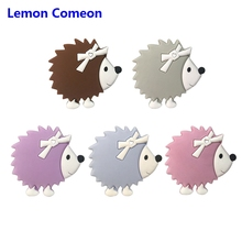 Lemon Comeon 5Pcs Silicone Teethers Cartoon Rodent Hedgehog Chew Charms Teeth Accessories Gift Toddler Toys For Babies Products