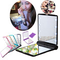 1 Unids Señora 8 LED Espejo de Maquillaje Portátil Plegable de Bolsillo Compacto Espejo de Luz Led Kit de Herramienta Del Maquillaje