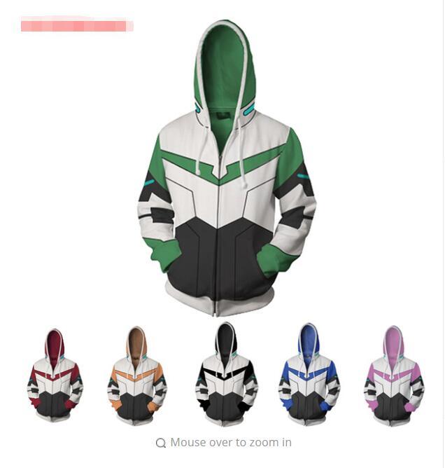 Legendary Defender Pidge hoodie Sweatshirt Cosplay Costume zip up coat J