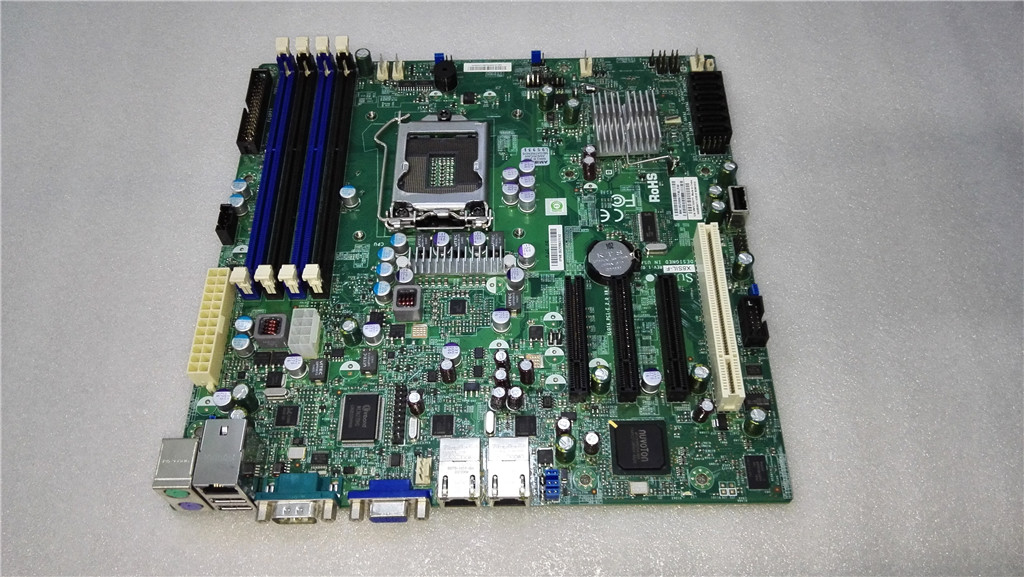 Used,X8SIL-F 1156 pin 3420 chipset server motherboard, 100% tested working