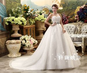 Image 4 - White Hot Sale Royal Train 2019 Romantic Luxury Wedding Dresses With Tail Sexy Vintage Bridal High Lace Wedding Dress