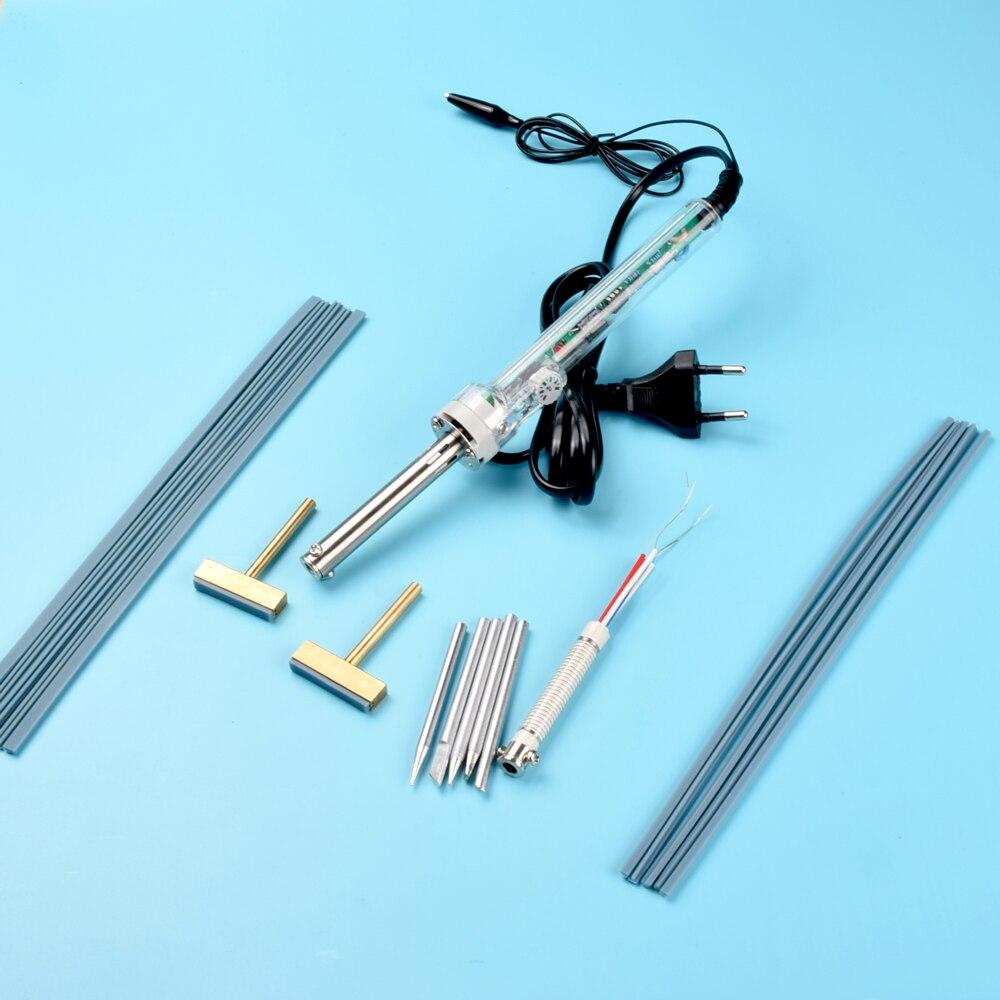 19pcs adjustable soldering iron eu 220v 60W All copper extrusion head + hot strip LCD line maintenance tools