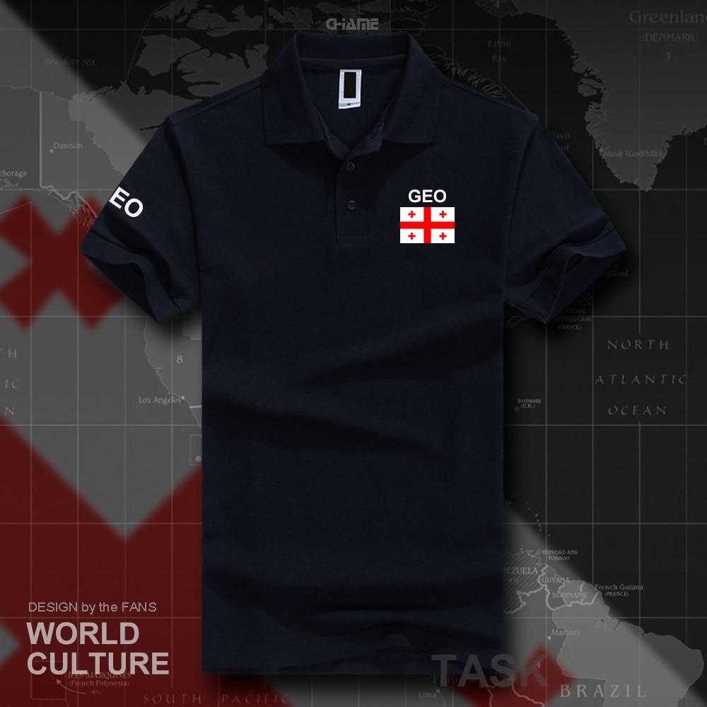 Georgia   polo   shirts men short sleeve white brands printed for country 2017 cotton nation team flag new fashion GEO Georgian