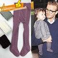 Marca de moda Infantil del bebé niñas medias Cabritos Del Niño medias Pantimedias Otoño Invierno Baby Girl Medias Pantalones de La Muchacha