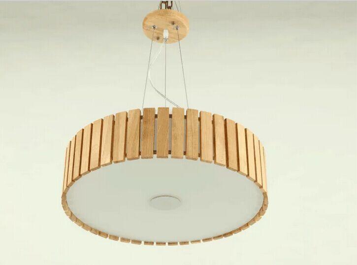 Дуб современный деревянный deluxe древесины Светодиодная лампа висит кулон ресторан Освещение Обеденная светильник Кофе магазин купол Украш