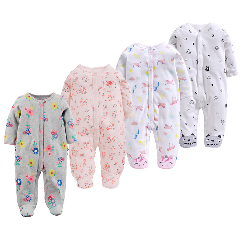 Baby   Rompers   Foot Cover Baby Girl's Pajamas   Romper   Newborn Feet Cover Sleepwear Body suits One-piece infant clothing