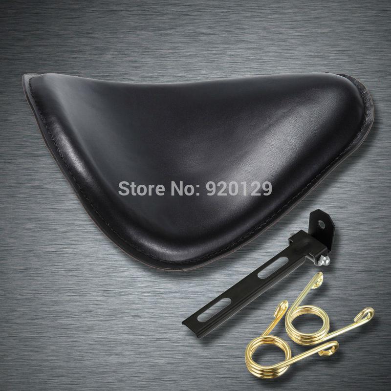 Motorcycle Black leather Bracket Softail Solo Seat for Harley Honda Yamaha Sportster Bobber