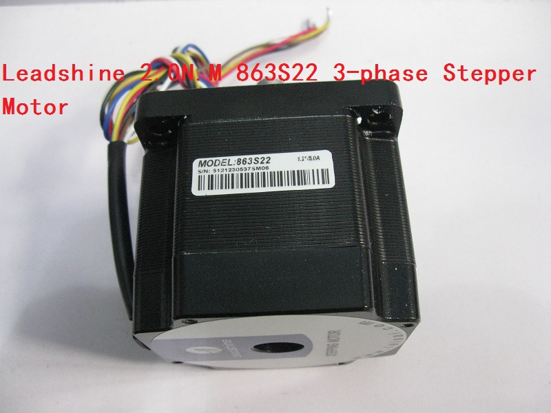цены Leadshine 2.0N.M 863S22 3-phase Stepper Motor NEMA34 Step Angle 1.2 Degrees 5.0A New