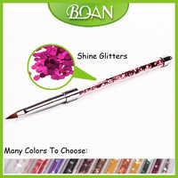 BQAN New Design Pure Kolinsky Bling Bling Glitter Acrylic Brush 8# 10pcs Sale