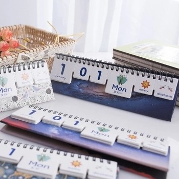 Druk na zlecenie Mini Print Nieustającej Kalendarz Biurko Diy Biurowe Śliczne 2018 Przyborów szkolnych