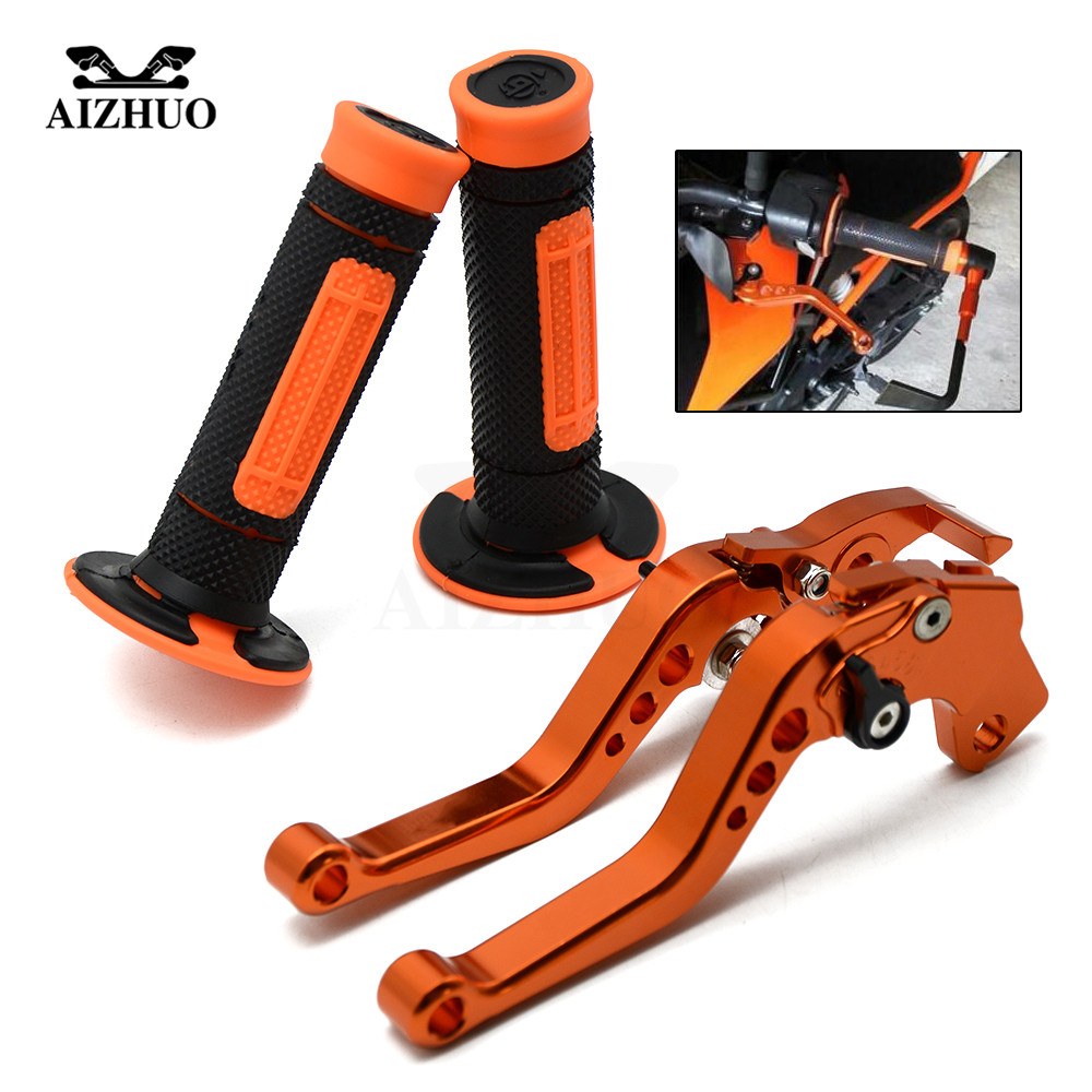 For KTM RC125/125 Duke125 RC 125 2011-2016 2012 2013 2014 2015 Motorcycle Brake Clutch Lever Adjustable lever Handle Hand GripsFor KTM RC125/125 Duke125 RC 125 2011-2016 2012 2013 2014 2015 Motorcycle Brake Clutch Lever Adjustable lever Handle Hand Grips