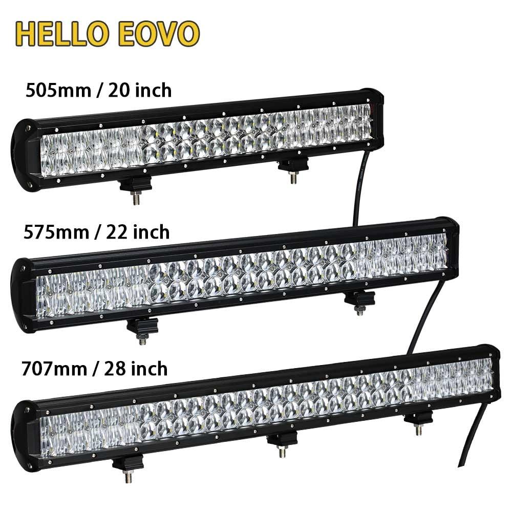 BONJOUR EOVO 5D 20/22/28 pouces LED barre lumineuse LED Travail De Barre Légère pour la Conduite Tout-Terrain De Camion De Tracteur De Voiture 4x4 SUV ATV 12V 24V
