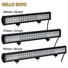 HELLO EOVO 5D 20 / 22 / 28 inch LED Light Bar LED Bar Work Light for Driving Offroad Car Tractor Truck 4×4 SUV ATV 12V 24V