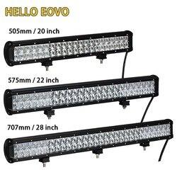 HELLO EOVO 5D 20 / 22 / 28 inch LED Light Bar LED Bar Work Light for Driving Offroad Car Tractor Truck 4x4 SUV ATV 12V 24V