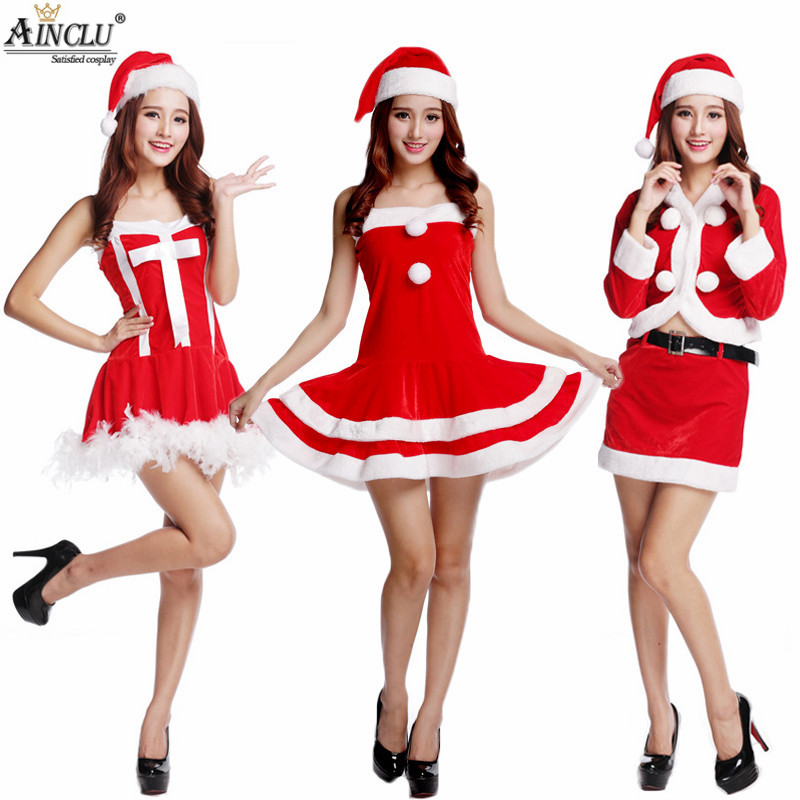 Women Sexy santa costumes christmas dress Cosplay for woman fancy dress costume Halloween Adult Santa Clause Xmas 28 styles