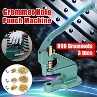 Heavy Grommets Eyelets Punch Hand Press Machine Kit 3 Dies 900 Grommets DIY Manual Tools Kit Craft Clothing Grommet Banner