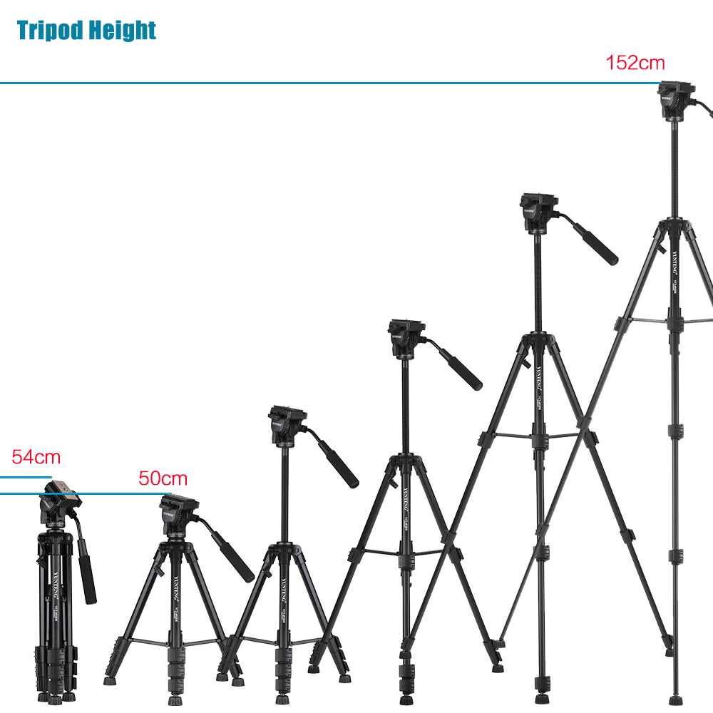 Yunteng Vct 691 Portable Aluminum Tripod Price In Bd Yt 880 Sections 4 Folded Height 54cm 213in Max Working 152cm 598in Camera Screw Unc 1 20 Leg Diameter Approx 232mm