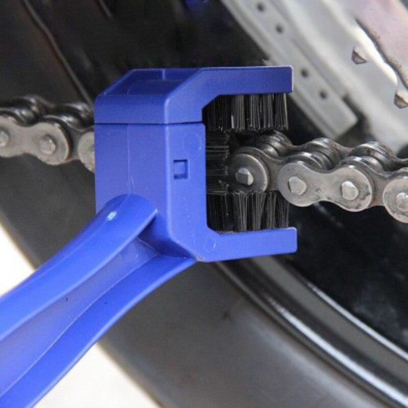 Removedor de frenos de ciclo de cepillo de limpieza de mantenimiento de cadena de motocicleta para Honda Yamaha KTM Kawasaki para Suzuki BMW ATV herramientas azules Manillar de agarre de Gel de freno de goma para motocicleta de 7/8