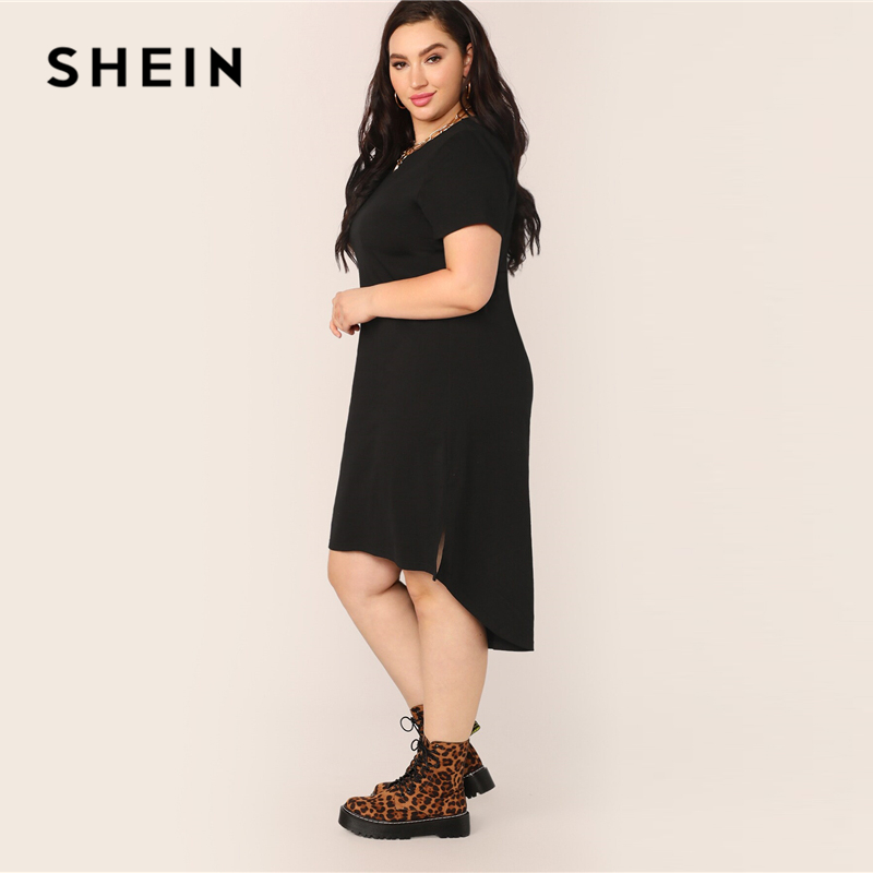 Shein Plus Size Black Dress Women's Shein Plus Size Collection