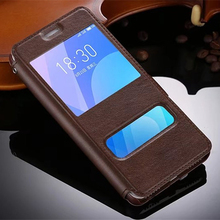 High Quality Ultrathin View Window Flip Leather Cases For Meizu M6 Note Case Luxury Phone Cover mooncase чехол для meizu m2 note meilan note2 ultra slim view window flip leather case cover black