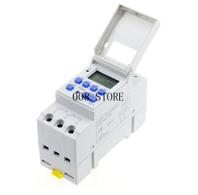 THC15A zb18B timer switchElectronic Weekly 7Days Programmable Digital TIME SWITCH Relay Timer Control AC 220V 16A Din Rail Mount 1pc electronic weekly 7 days programmable timer thc15a ahc15a digital time timer switch relay din rail ac dc 12v 24v 110v 220v