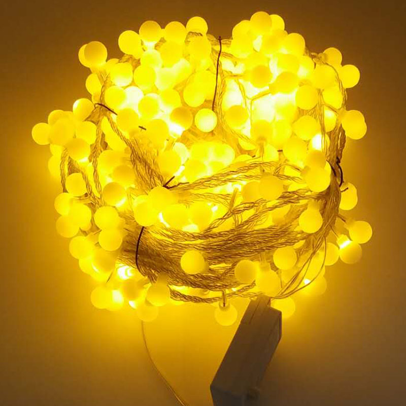 White/Warm white 20m 30m 50m 100m LED String Fairy Lights Matte balls Christmas Holiday lights Garlands Wedding Party Decoration 2 5 10m 10 38led holiday lights 5cm big balls led light string ac plug rgb warm white xmas garland christmas fairy decoration da