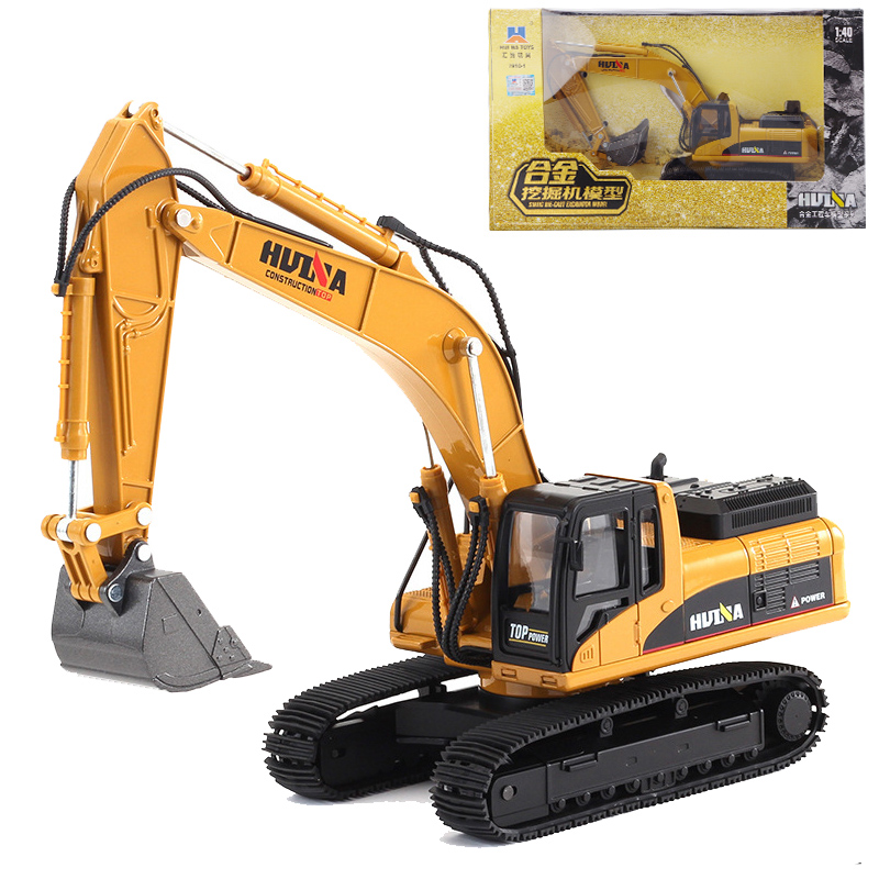 HUI NA TOYS 1 40 Construction Truck Toy Alloy Excavator Trucks Static Model Engineering Toys For