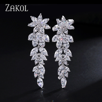 18K Gold Plating Latest Design Ghost Shape Inlay Swiss Cubic Zircon Diamond Innovative Items Drop Earrings