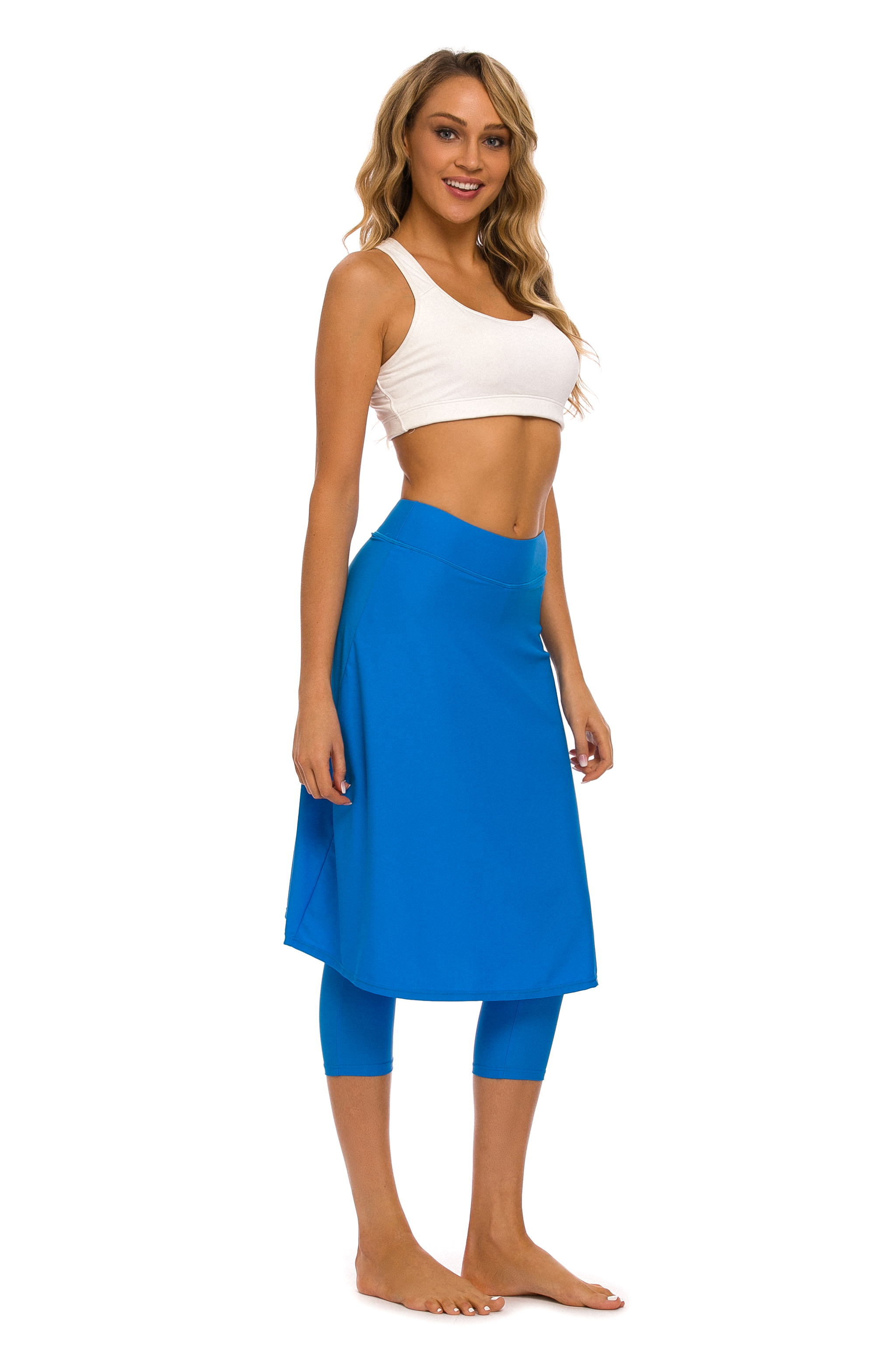 Women Long Skirted With Swim Legging