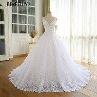 Великолепное бальное платье свадебное платье с кружевом Vestido De Novia Princesa винтажные Свадебные платья Реальное изображение подвенечное платье