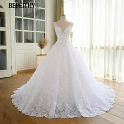 Великолепное бальное платье свадебное платье с кружевом Vestido De Novia Princesa винтажные Свадебные платья Реальное изображение подвенечное